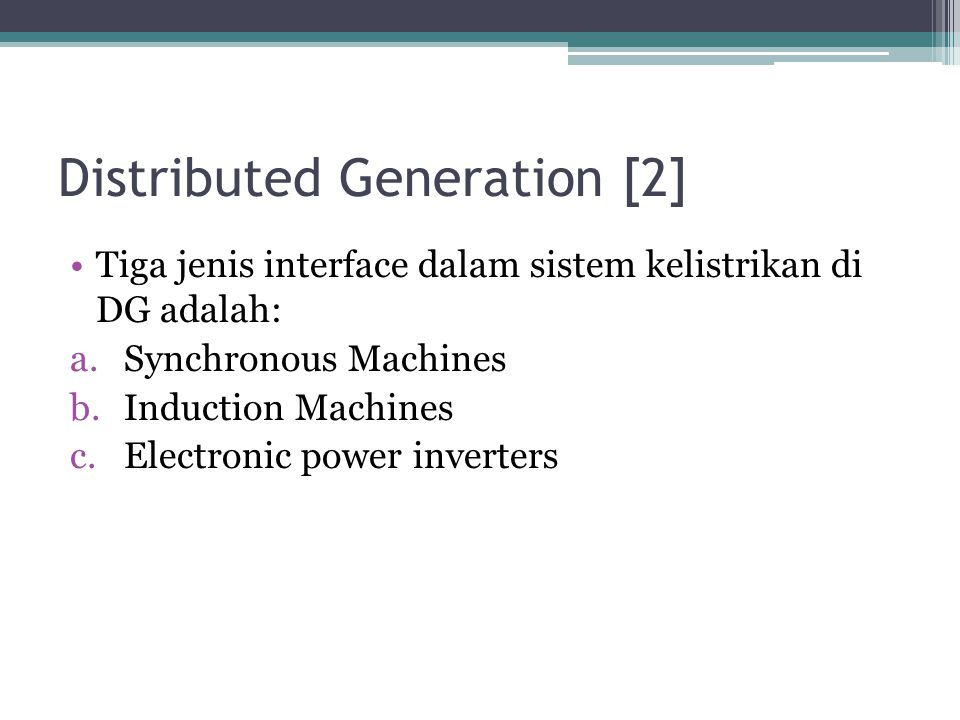 Distributed Generation [2]